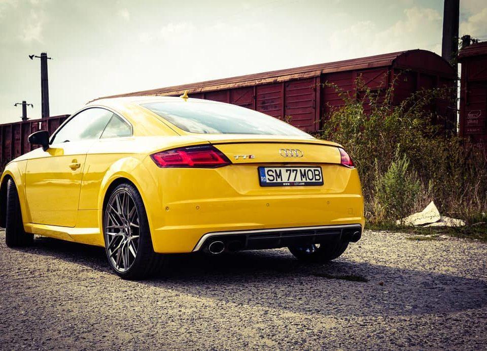 Audi TTS Yellow